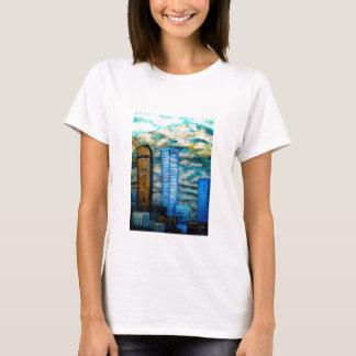Denver cityscape painting, fine art clothing T-Shirt