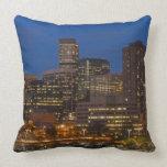 Denver Cityscape Throw Pillow