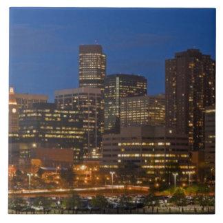 Denver Cityscape Large Square Tile
