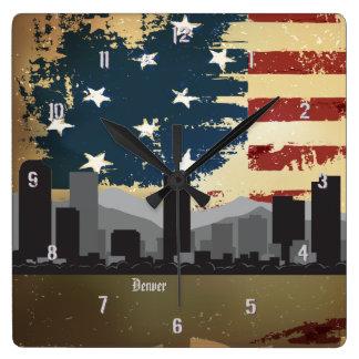 Denver, CO American Cities CityScape Wall Clock