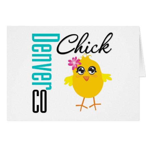 Denver CO Chick Greeting Cards