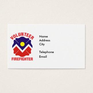 Denver, CO Flag Volunteer Firefighter Cross Business Card