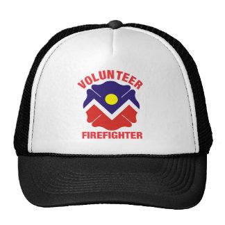 Denver, CO Flag Volunteer Firefighter Cross Trucker Hat
