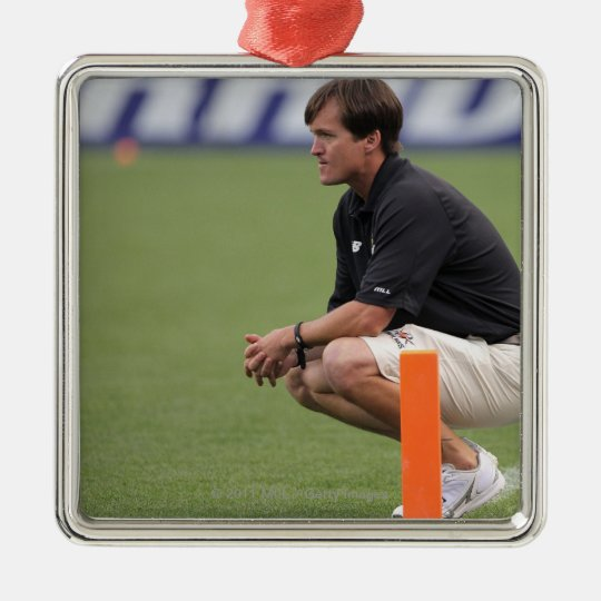 DENVER, CO - JULY 16:  Head coach Tom Slate Metal Ornament