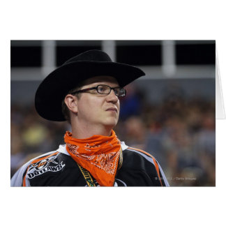 DENVER, CO - JULY 3: A Denver Outlaws fan didn't Greeting Card