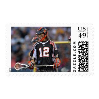 DENVER, CO - JULY 3: Jarett Park #12 2 Postage Stamps