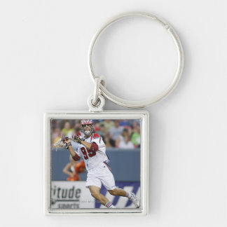 DENVER, CO - JULY 3: Paul Rabil #99 2 Silver-Colored Square Keychain