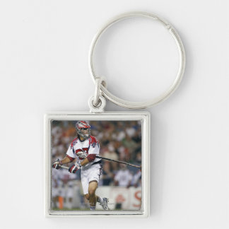 DENVER, CO - JULY 3: Paul Rabil #99 Silver-Colored Square Keychain