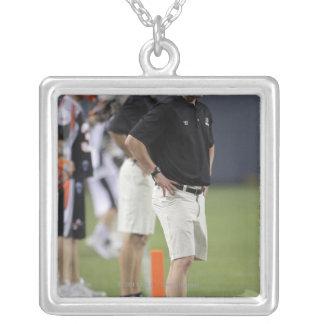 DENVER, CO - JUNE 25:  Head coach Tom Slate Silver Plated Necklace