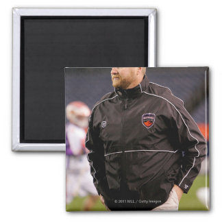 DENVER, CO - MAY 14:  Head coach Regy Thorpe 2 Inch Square Magnet