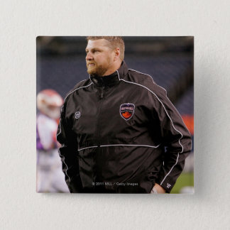 DENVER, CO - MAY 14:  Head coach Regy Thorpe Pinback Button