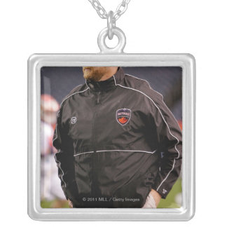 DENVER, CO - MAY 14:  Head coach Regy Thorpe Silver Plated Necklace