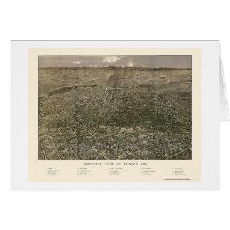 Denver, CO Panoramic Map - 1887 Card