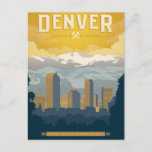 """Denver, CO Postcard<br><div class=""""desc"""">Anderson Design Group is an award-winning illustration and design firm in Nashville,  Tennessee. Founder Joel Anderson directs a team of talented artists to create original poster art that looks like classic vintage advertising prints from the 1920s to the 1960s.</div>"""