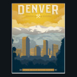 "Denver, CO Postcard<br><div class=""desc"">Anderson Design Group is an award-winning illustration and design firm in Nashville,  Tennessee. Founder Joel Anderson directs a team of talented artists to create original poster art that looks like classic vintage advertising prints from the 1920s to the 1960s.</div>"