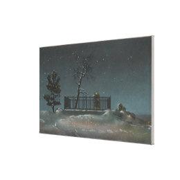 Denver, CO - View of Buffalo Bill's Grave Canvas Print