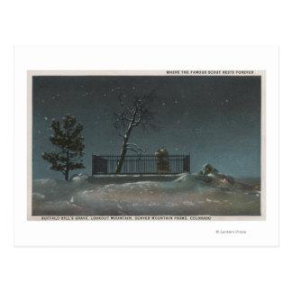 Denver, CO - View of Buffalo Bill's Grave Postcard