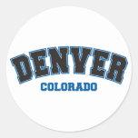 Denver colegial etiquetas