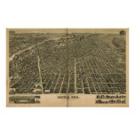 Denver Colorado 1889 Antique Panoramic Map Posters
