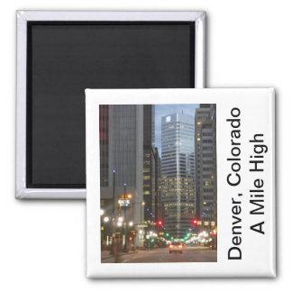 Denver, Colorado - A Mile High City 2 Inch Square Magnet