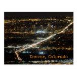 Denver Colorado at Night Postcard