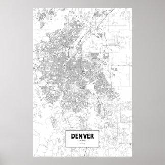 Denver, Colorado (black on white) Poster