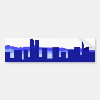 Denver Colorado - Blue Car Bumper Sticker