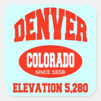 Denver Colorado Calcomanía Cuadradase