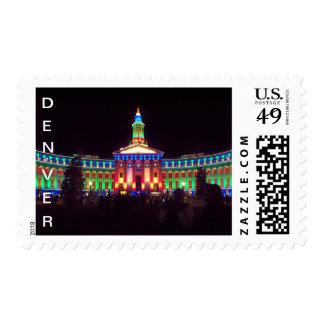 Denver, Colorado Christmas Postage Stamp