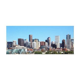 Denver Colorado City Skyline Canvas Print