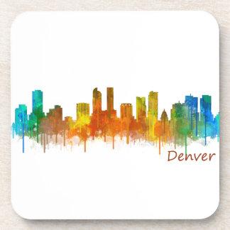Denver Colorado City Skyline v02 Coaster