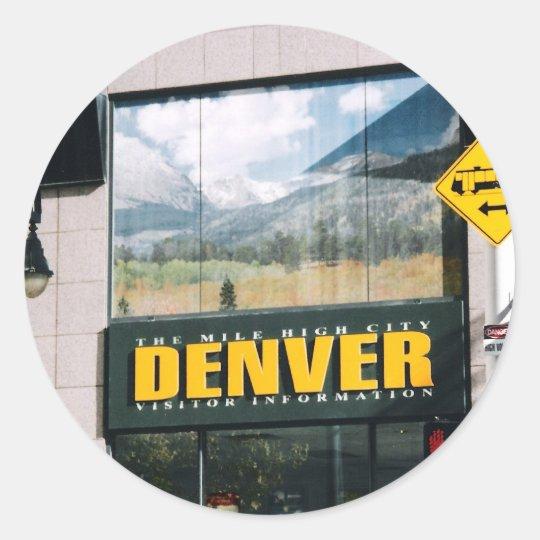 Denver, Colorado Classic Round Sticker