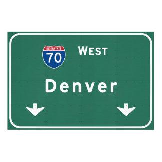 Denver Colorado co Interstate Highway Freeway : Photo Print