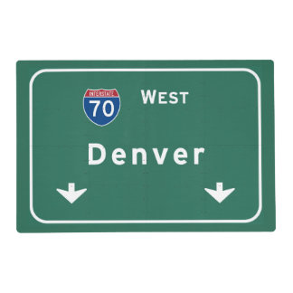 Denver Colorado co Interstate Highway Freeway : Placemat