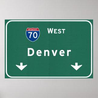 Denver Colorado co Interstate Highway Freeway : Poster