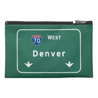 Denver Colorado co Interstate Highway Freeway : Travel Accessory Bag