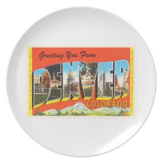 Denver Colorado CO Old Vintage Travel Souvenir Dinner Plate