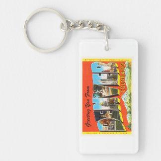 Denver Colorado CO Old Vintage Travel Souvenir Keychain