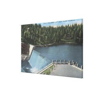 Denver, Colorado - Dam at Evergreen Lake View Canvas Print
