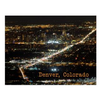 Denver Colorado en la postal de la noche