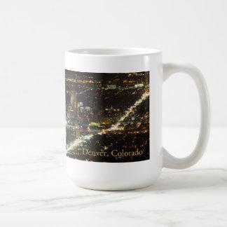 Denver Colorado en la taza de café de la noche