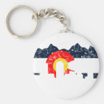 Denver Colorado Flag Basic Round Button Keychain