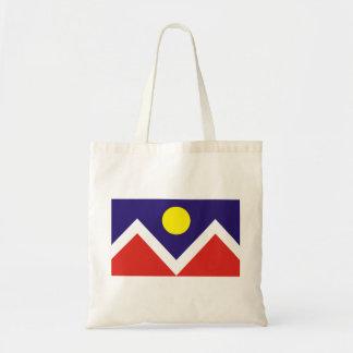 Denver, Colorado Flag Budget Tote Bag