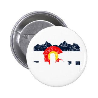 Denver Colorado Flag Pinback Button