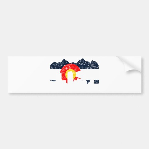 Denver Colorado Flag Car Bumper Sticker
