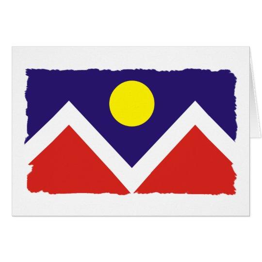 Denver Colorado Flag Card