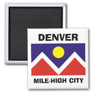 Denver, Colorado Flag 2 Inch Square Magnet
