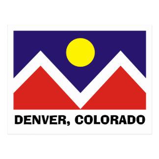 Denver Colorado Flag Post Cards