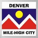 Denver, Colorado Flag Poster