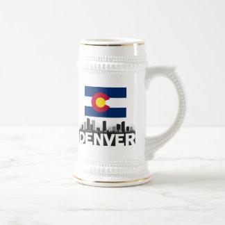 Denver Colorado Flag Skyline Beer Stein